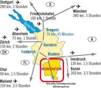 Anreise ins Montafon